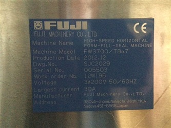 Used Flow Wrapper   Fuji Model FW 3700   Used Packaging