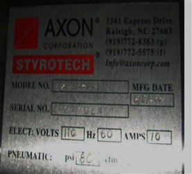 Axon Model EX-100 Neck Bander/Sleever