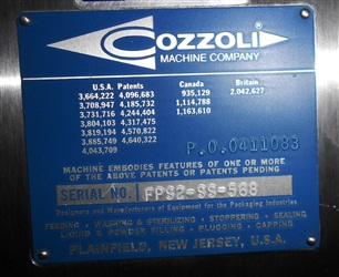 Cozzoli Model FPS-2 S/S Ampule Filler