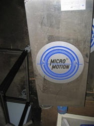 "2"" MICROMOTION S/S FLOWMETER MD#DL200S227SU"
