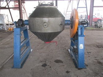 GEMCO 20 CFT DOUBLE CONE VACUUM DRYER - SOLD