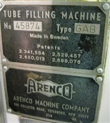 Arenco Metal Tube Filler Model GAB