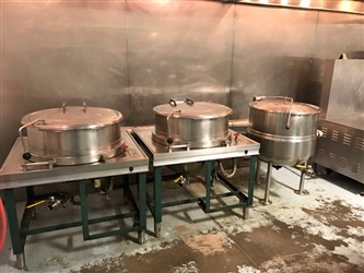 30 Gallon Stainless Steel Kettles With Southbend Steam Generator