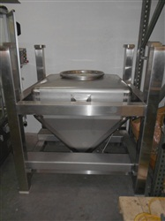 Tote Stainless Steel Bin with Valve