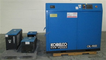 KOBELCO 30 HP ROTARY SCREW AIR COMPRESSOR KNW SERIES