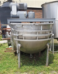 Hamilton 500 Gallon S/S Jacketed Kettle with Double Motion Agitation