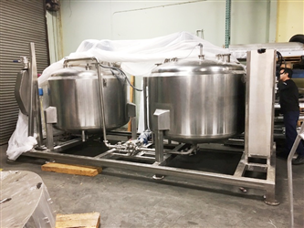 Two Feldmeier Skidded 500 Gallon S/S Jacketed Tanks -SOLD
