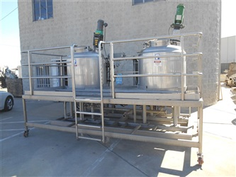Twin 200 Gallon Feldmeier Reactors With Mezzanine