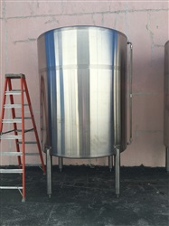 5000 Liter 316 Stainless Steel Single Wall Tank - SOLD